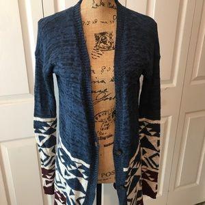 Hollister Tribal Sweater Cardigan Size XS/S